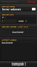 Server-minecraft TeamSpeak Viewer