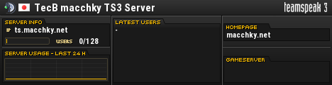 TecB macchky TS3 Server TeamSpeak Viewer
