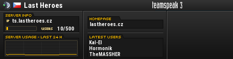 LastHeroes.cz TeamSpeak Viewer