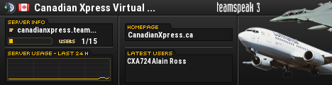 Canadian Xpress Virtual Airline� TeamSpeak Viewer