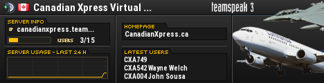 Canadian Xpress Virtual Airline® TeamSpeak Viewer