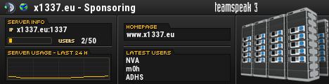 x1337.eu - Sponsoring TeamSpeak Viewer